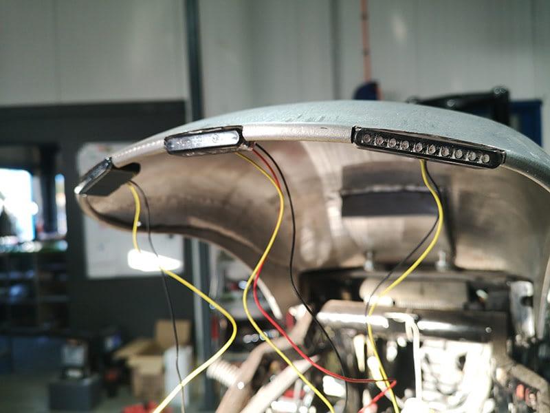 Neue Rücklichteinheit bei der Custom Motorradbau bei der Motorradwerkstatt aus Ibbenbüren