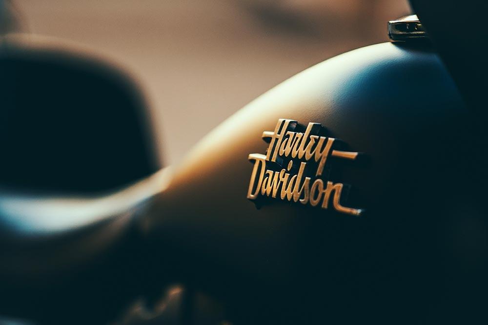 Harley-Davidson Tank Ausschnitt