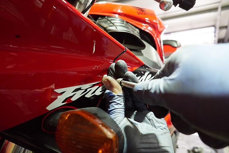 HONDA Motorrad in der Motorradwerkstatt